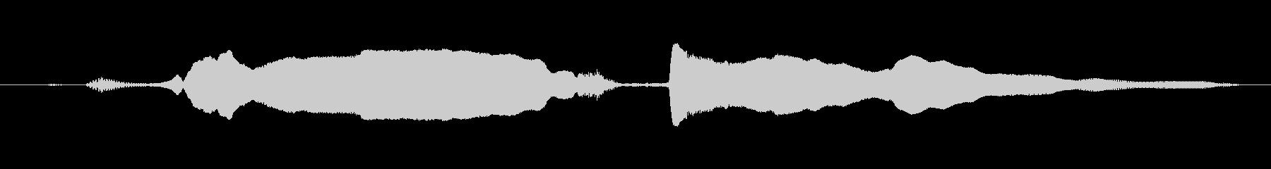 鳴き声 u湖オーバー興奮女性ロング03の未再生の波形