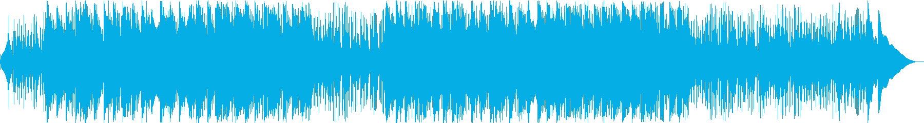 スライドギターとピアノの癒し系BGMの再生済みの波形
