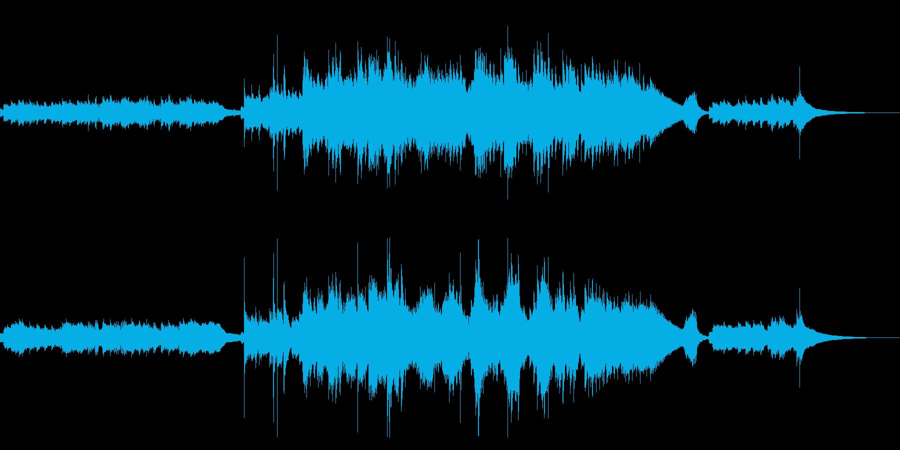 筝とパーカションを使った怪しげな能風の曲の再生済みの波形