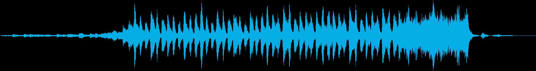 天然水のCMで使われていそうな爽やかな曲の再生済みの波形