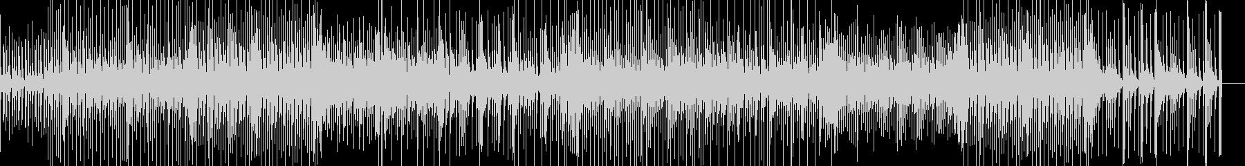 明るく心が弾むようなポップス曲の未再生の波形