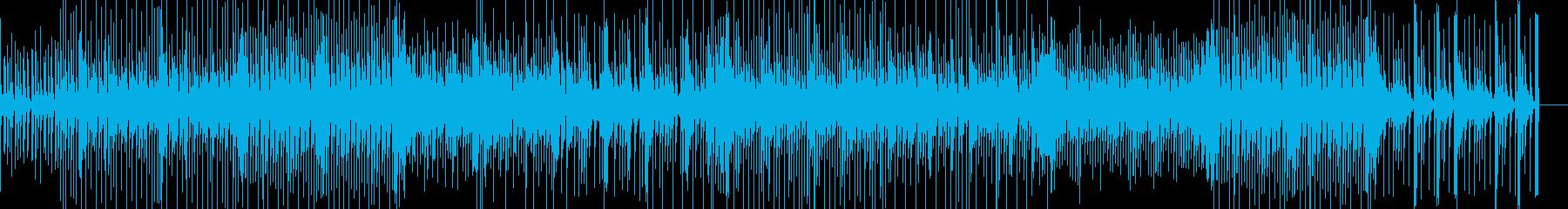 明るく心が弾むようなポップス曲の再生済みの波形