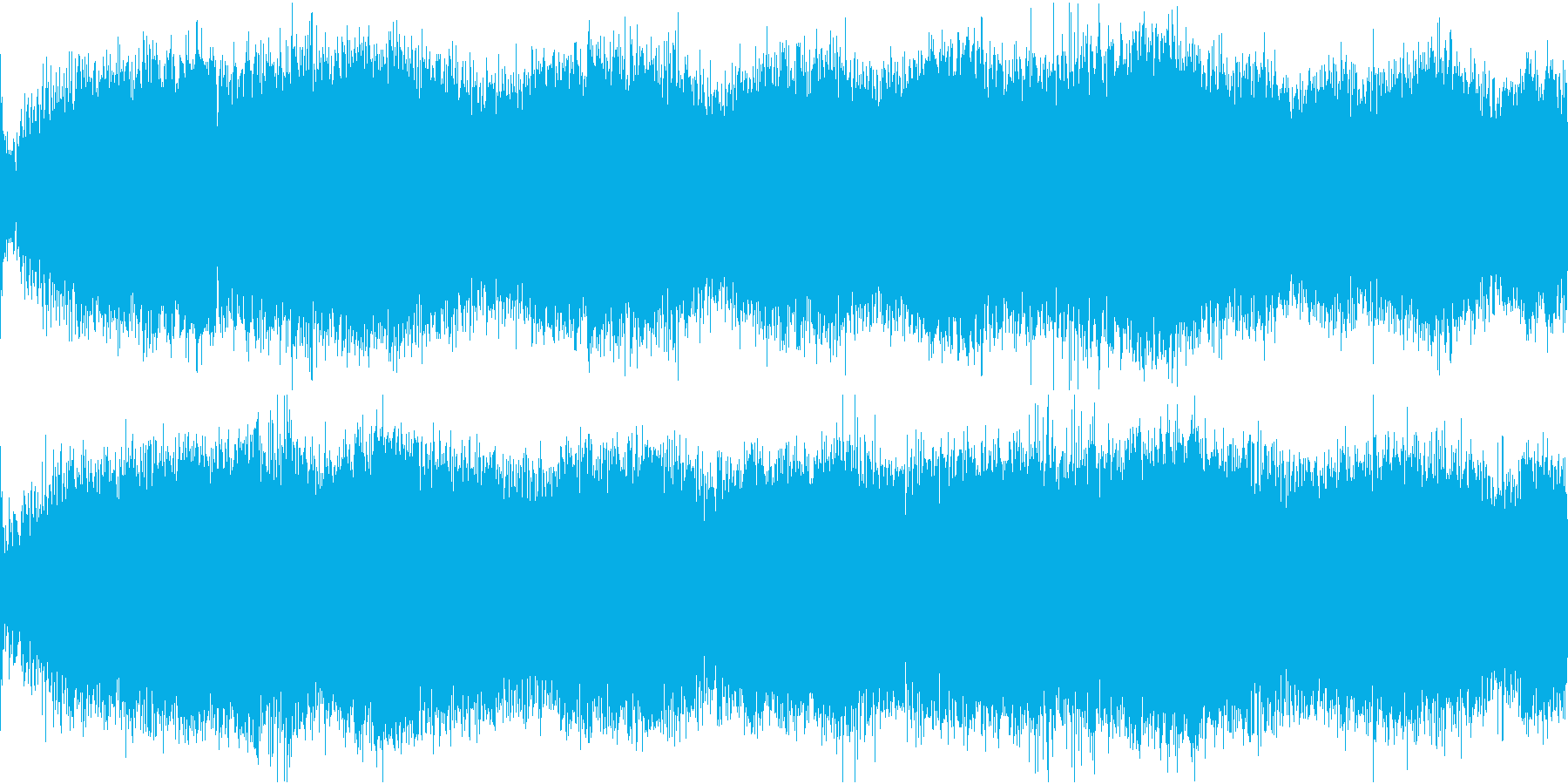 水中から忍び寄る ホラー ループの再生済みの波形