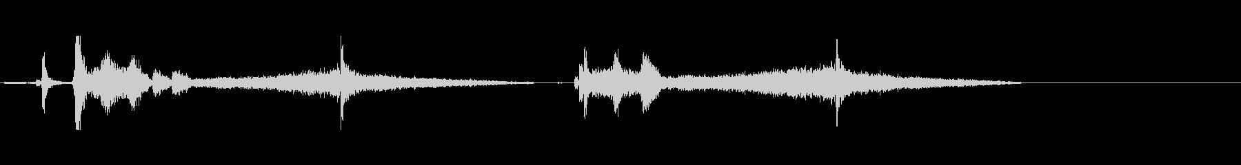 カーフォールススタート2の未再生の波形