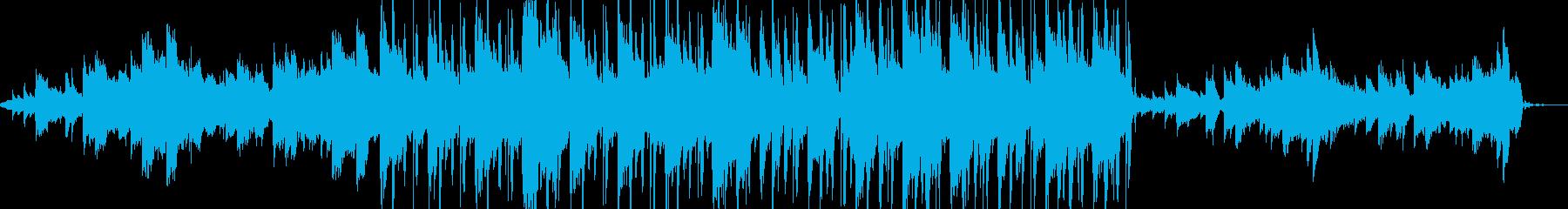 【CM】夕焼けを背景にドライヴの再生済みの波形