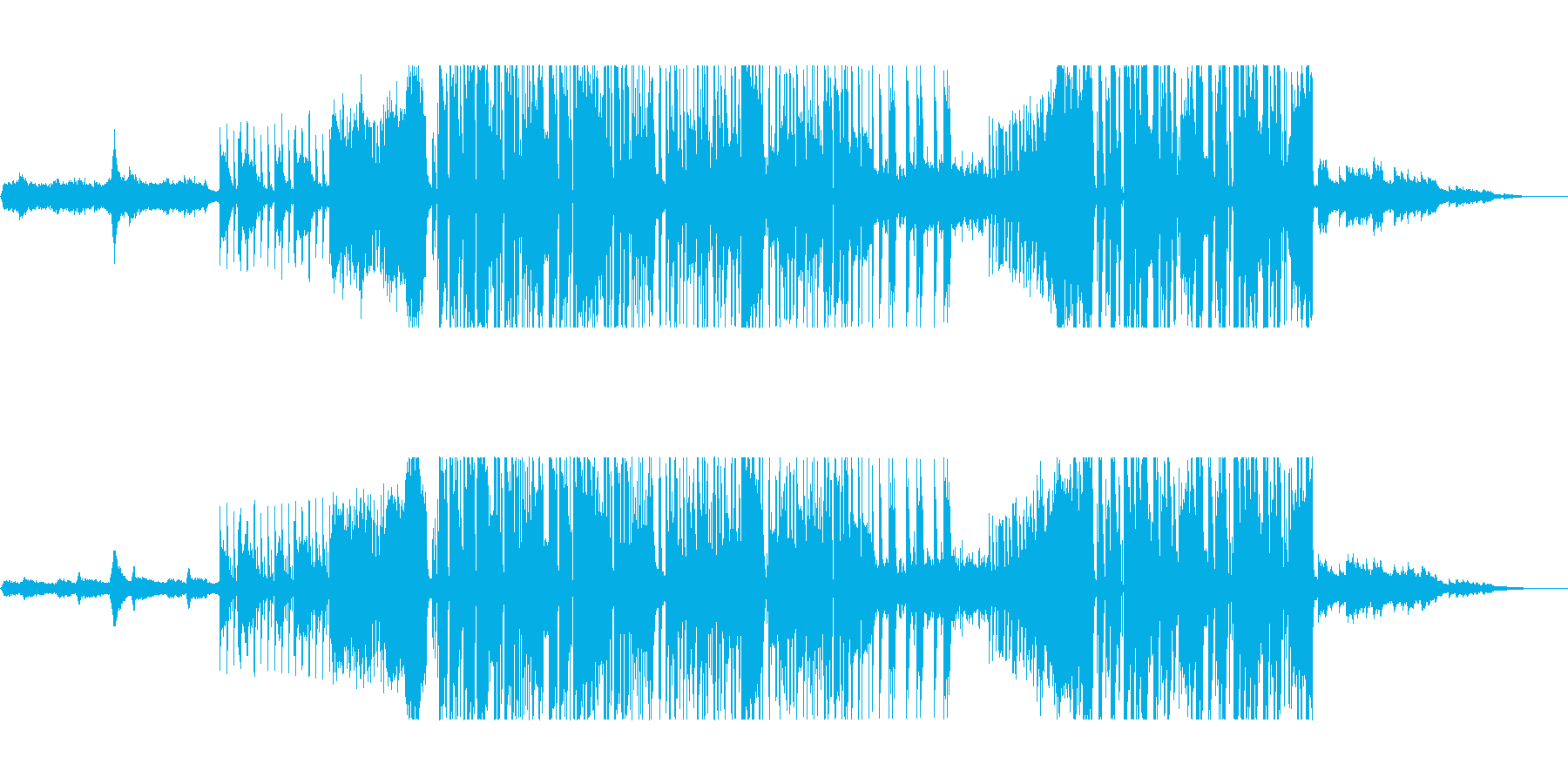 和とクラブ要素が混ざったビートの再生済みの波形