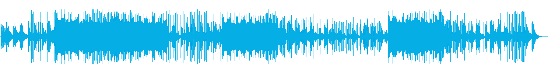 ゆったりとした雰囲気のヒップホップの再生済みの波形