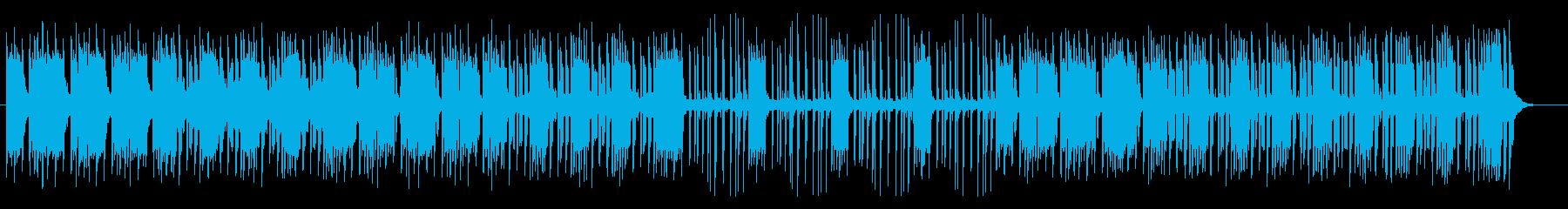明るく軽やかなシンセサイザーサウンドの再生済みの波形