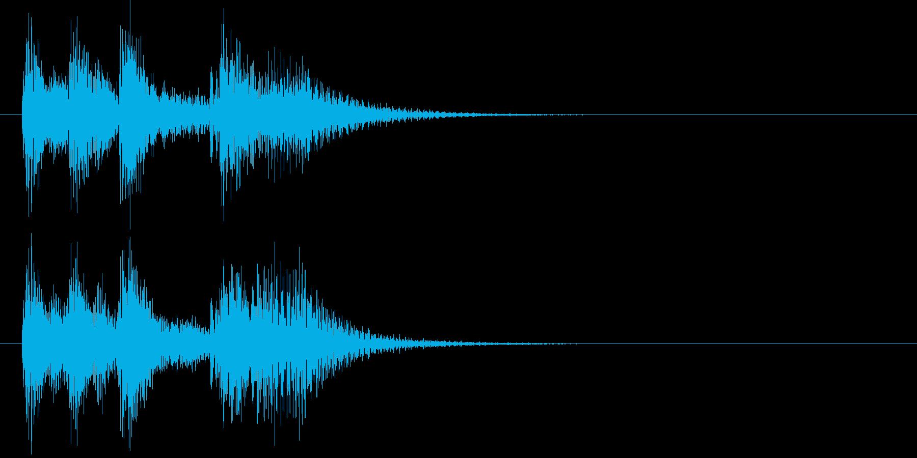 「発表!」を盛り上げる短めファンファーレの再生済みの波形
