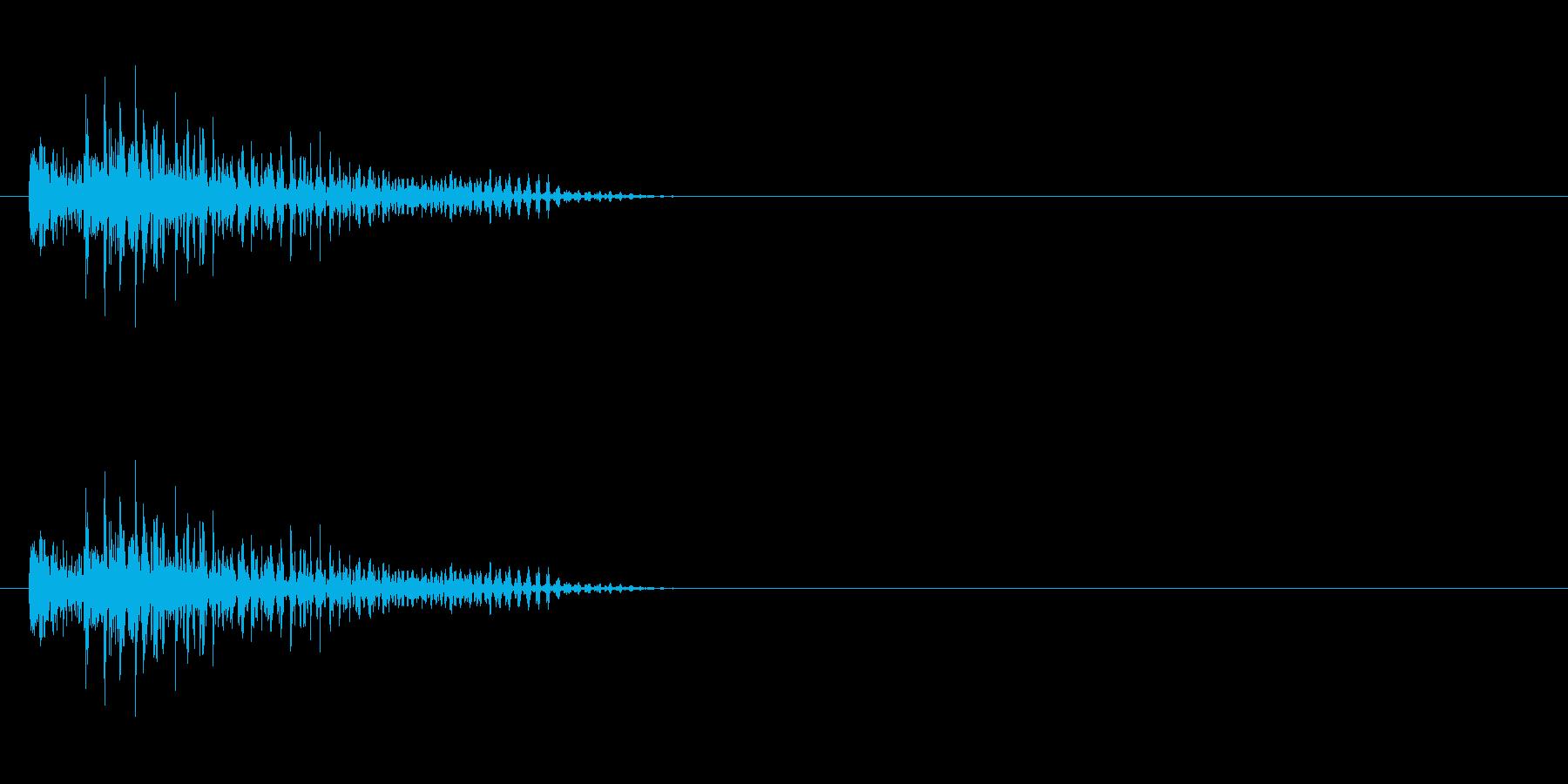 チープなロボットのジャンプ音の再生済みの波形