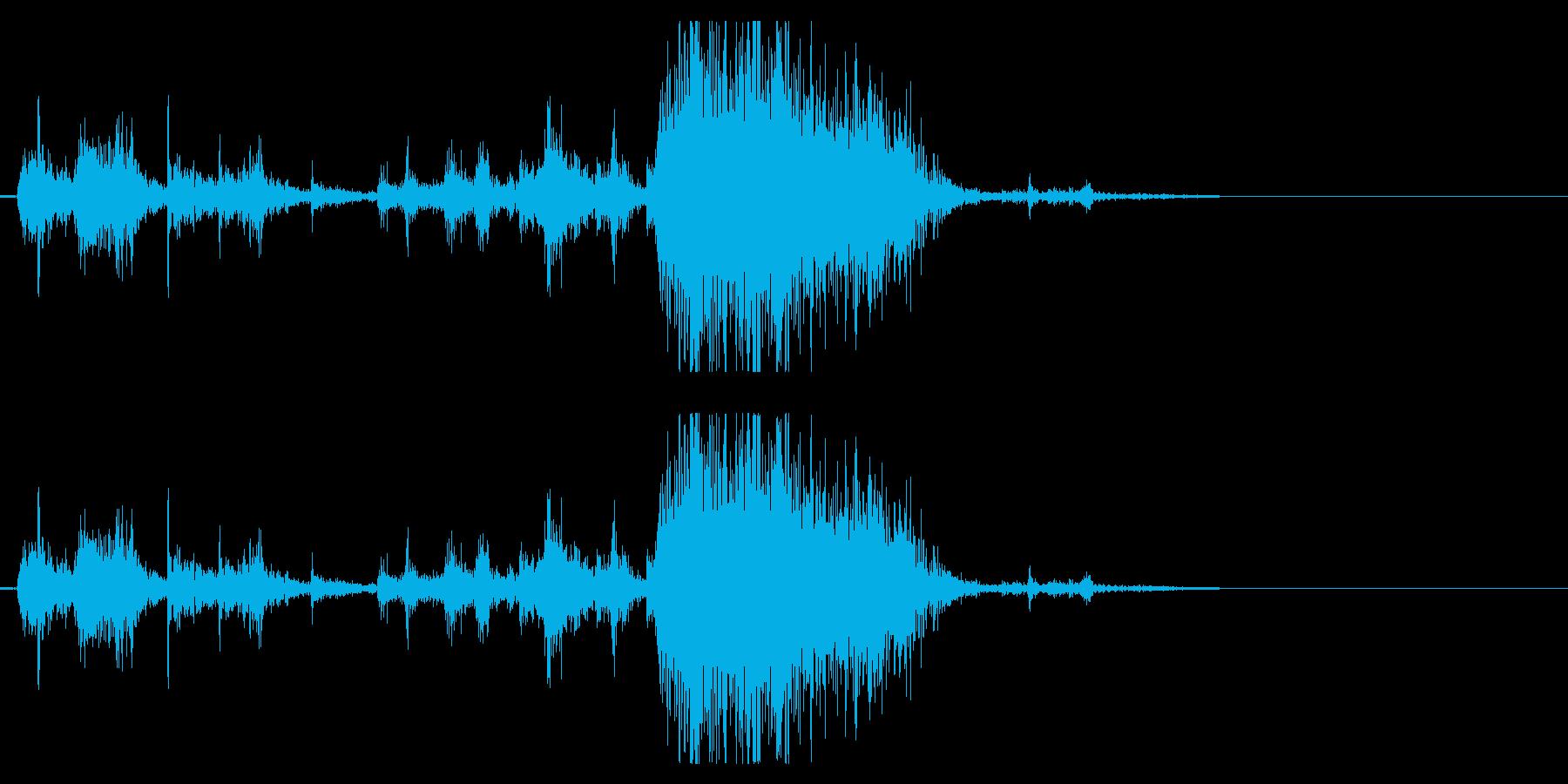 Zombie ゾンビが唸り飛びかかる音1の再生済みの波形