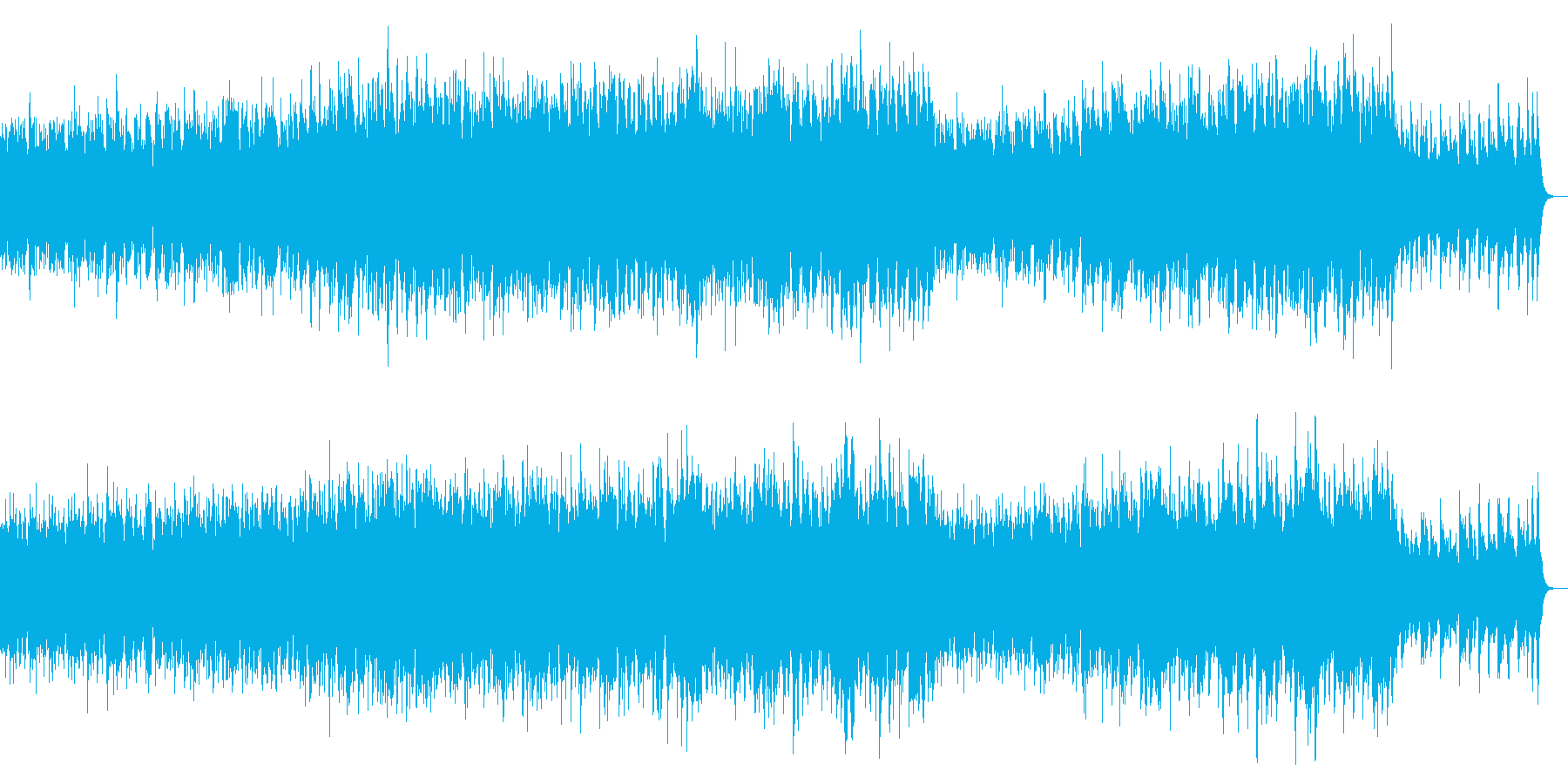 ケルト風ポップオーケストラ:打楽器なしの再生済みの波形