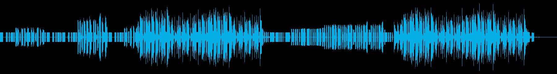 レトロゲーム風ダンスビートの再生済みの波形