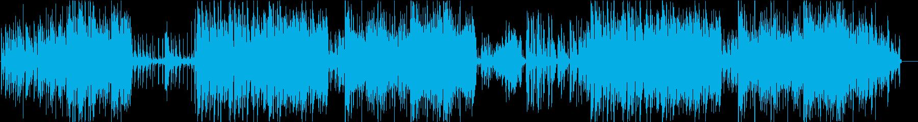 疾走感あるクールなジャズの再生済みの波形