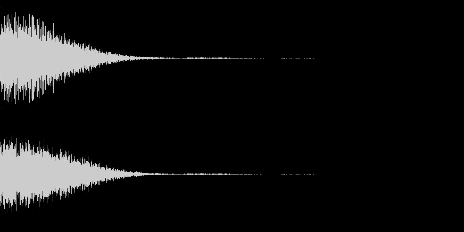 クリック音、キラン、キュイン、ピコン04の未再生の波形
