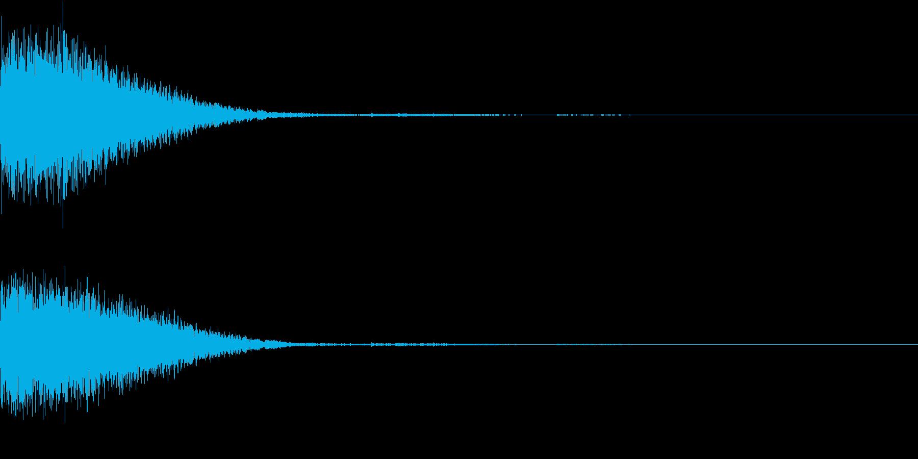 クリック音、キラン、キュイン、ピコン04の再生済みの波形