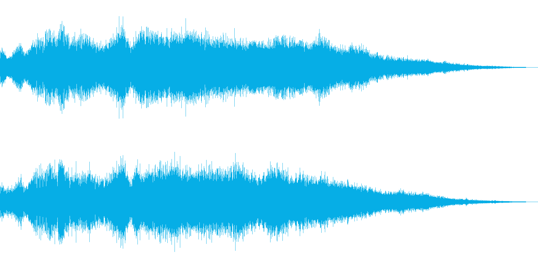 不安感のある金属音の再生済みの波形