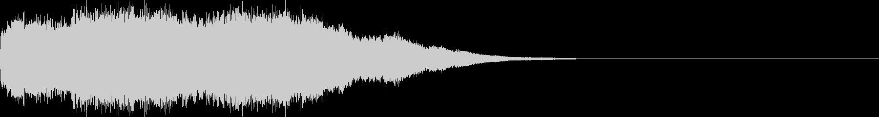 ベル/コール/着信音/アラーム音/1回の未再生の波形