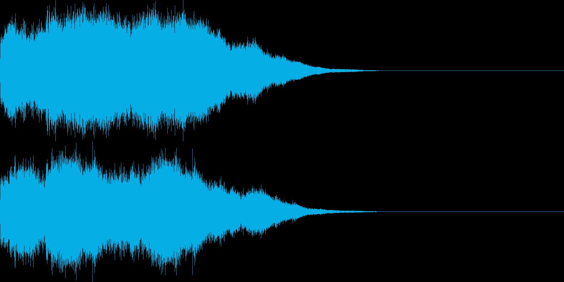 ベル/コール/着信音/アラーム音/1回の再生済みの波形