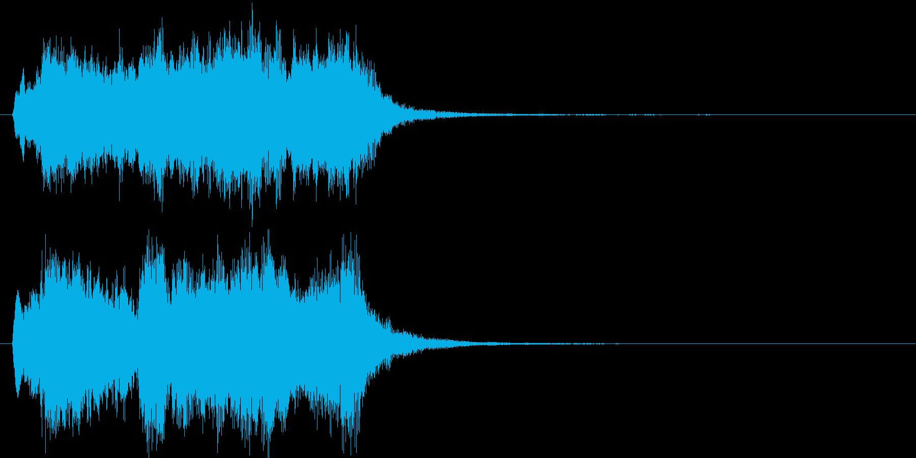 壮大で勝利感 オケのファンファーレの再生済みの波形