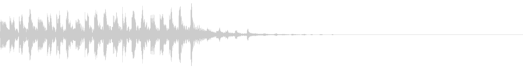シンプルな効果音 不思議な時のシンセの未再生の波形