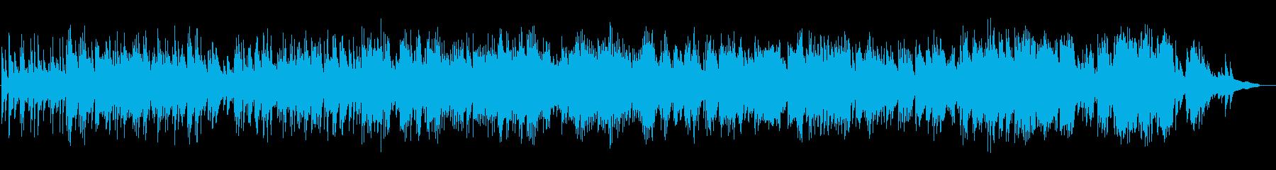 落ち着いた静かなピアノの再生済みの波形