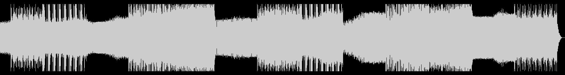 シンプルなアルペジオのテクノ10の未再生の波形