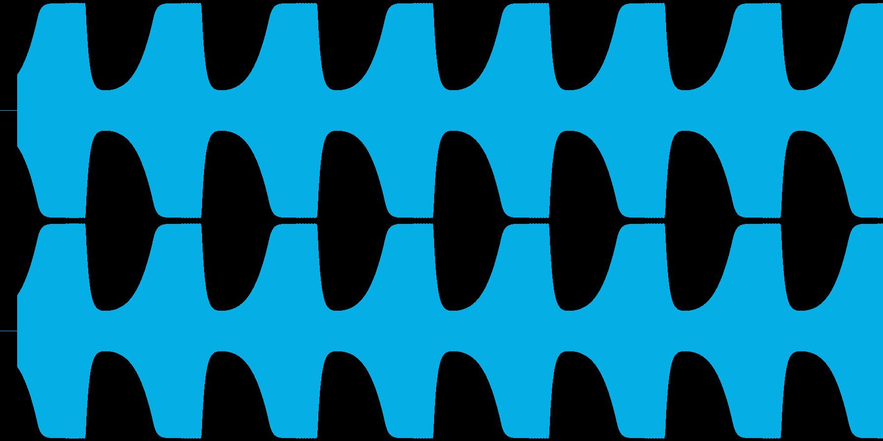 ゲームテキスト効果音A-2(短い)の再生済みの波形
