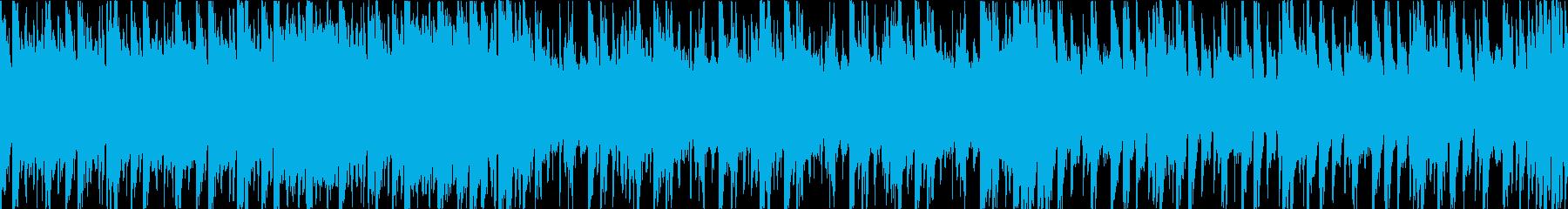 軽快なリズムに和楽器を乗せた和風ファンクの再生済みの波形