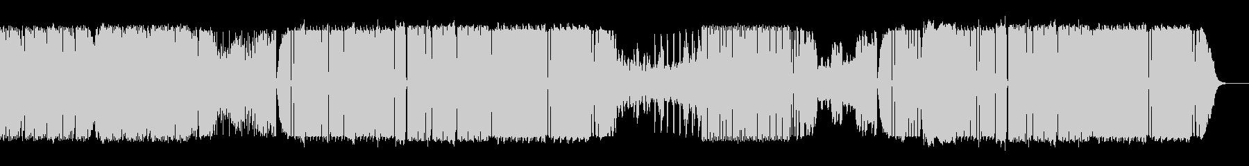 歪んだベースが特徴的な四つ打ちの未再生の波形