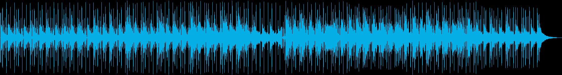 アコースティックでゆったりしたビートの曲の再生済みの波形