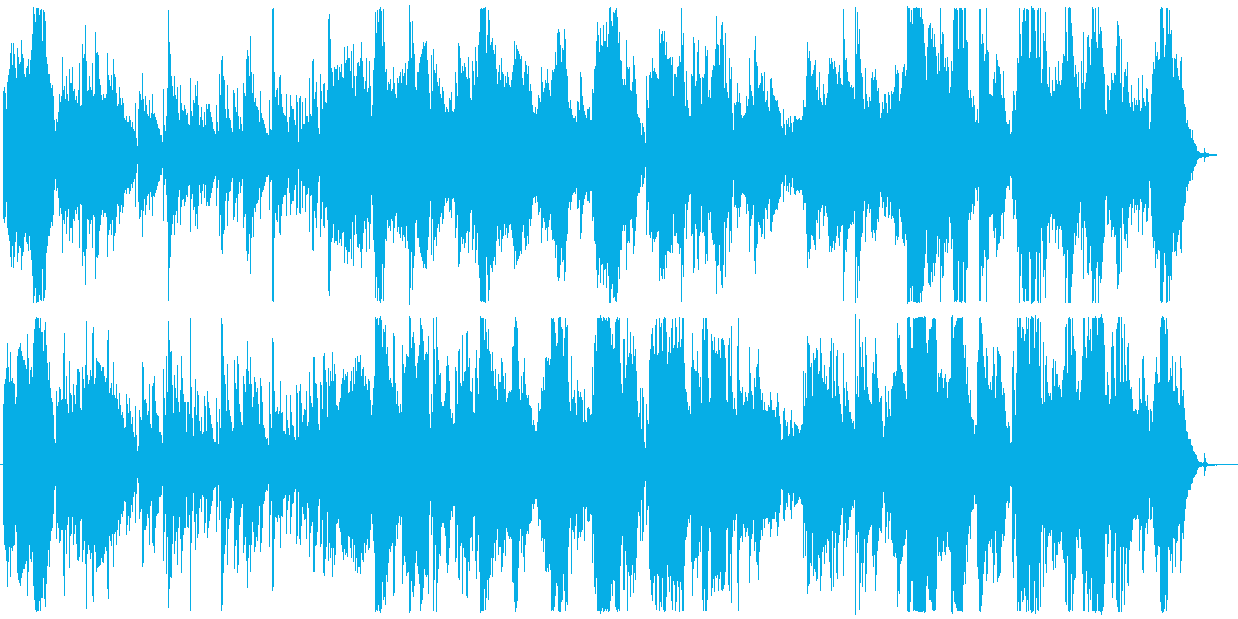物語の導入部に最適なミステリアスな序奏の再生済みの波形