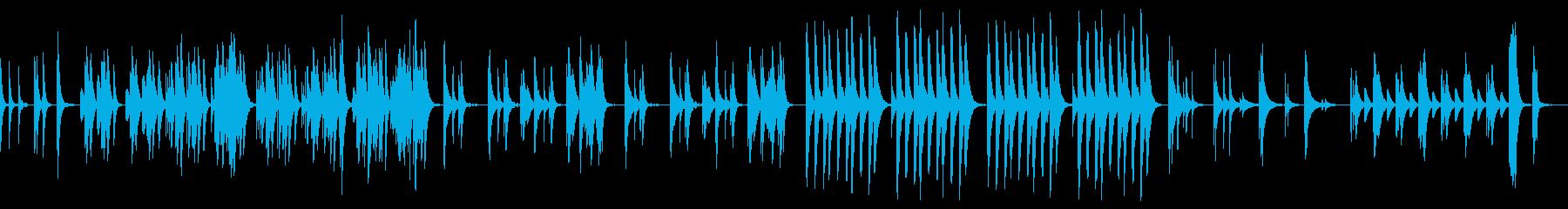 シンプルでゆるく明るいマリンバとウクレレの再生済みの波形