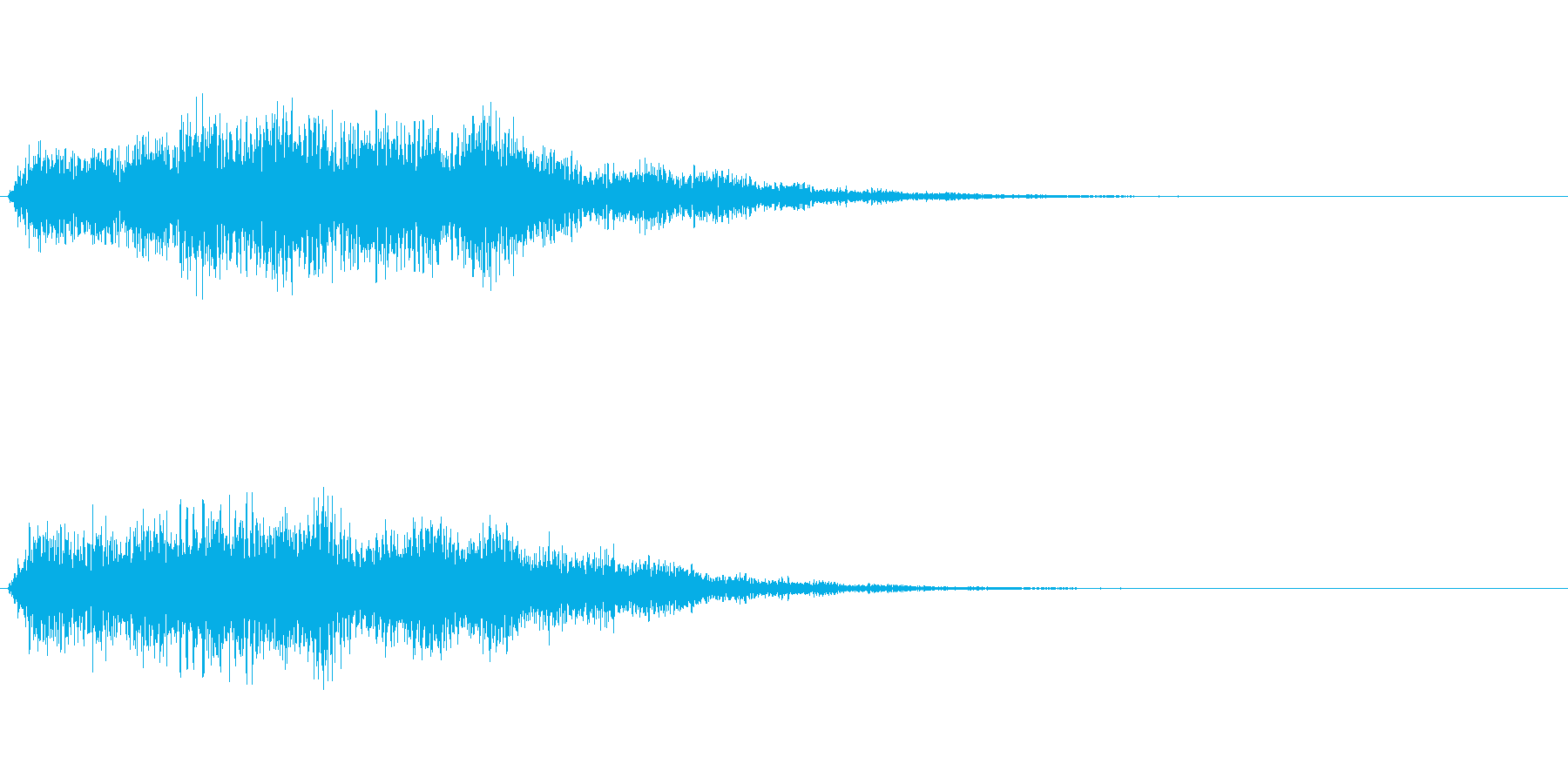 起動音などをイメージしましたの再生済みの波形