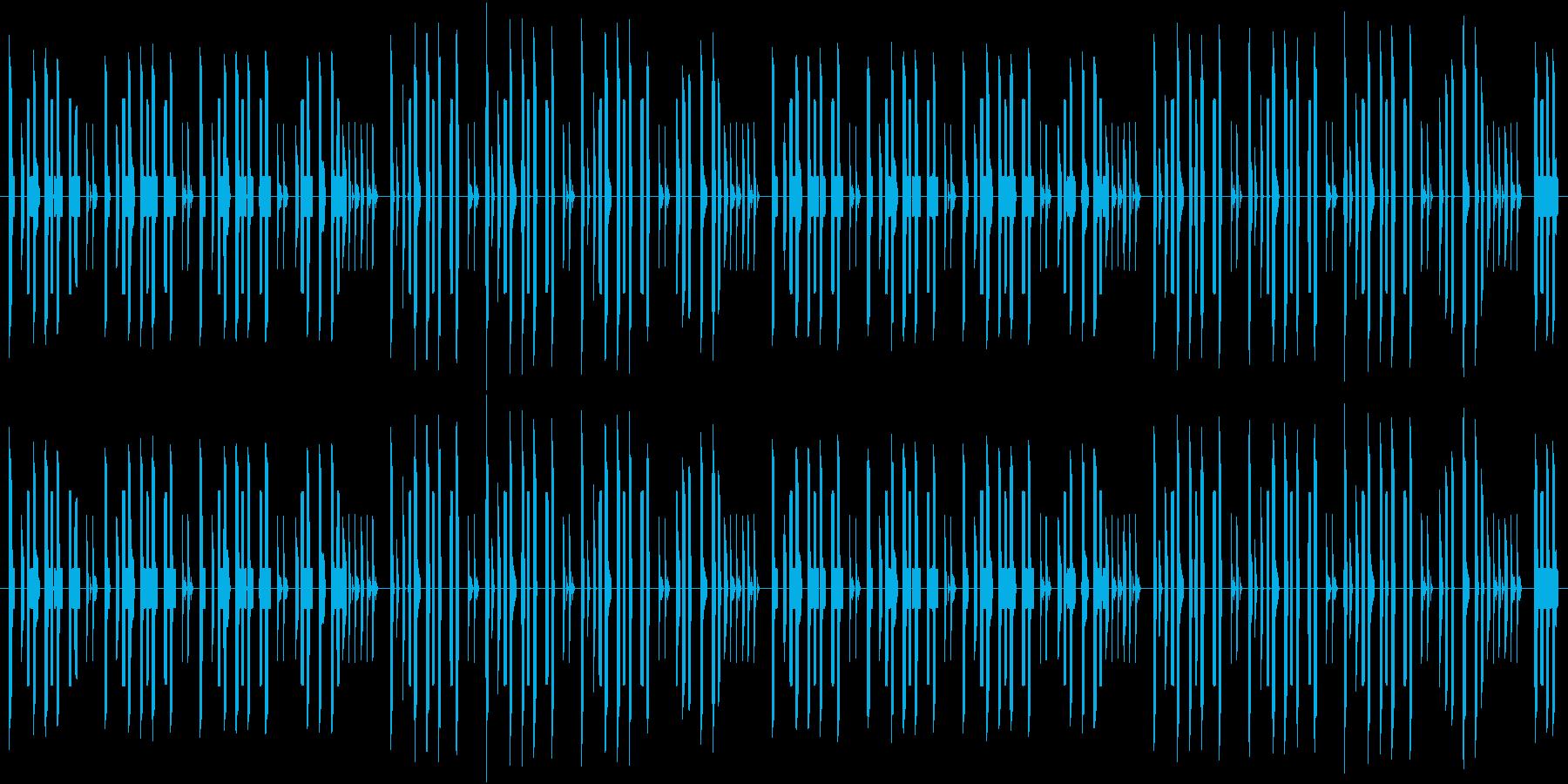 8bit風のほほんBGMの再生済みの波形