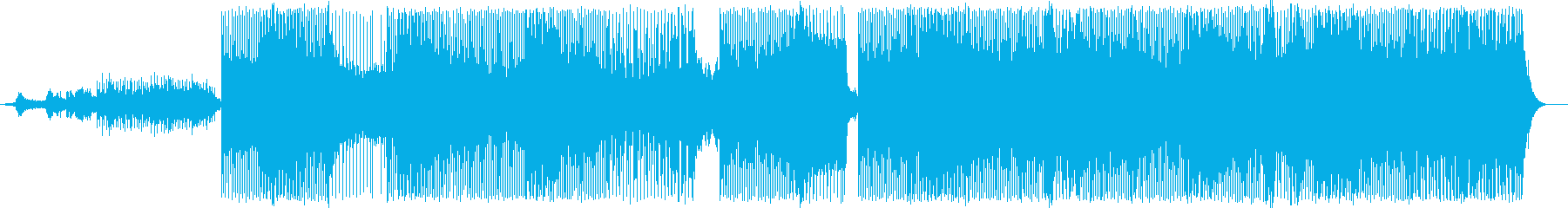 緊迫感のある疾走するテクノトランスの再生済みの波形