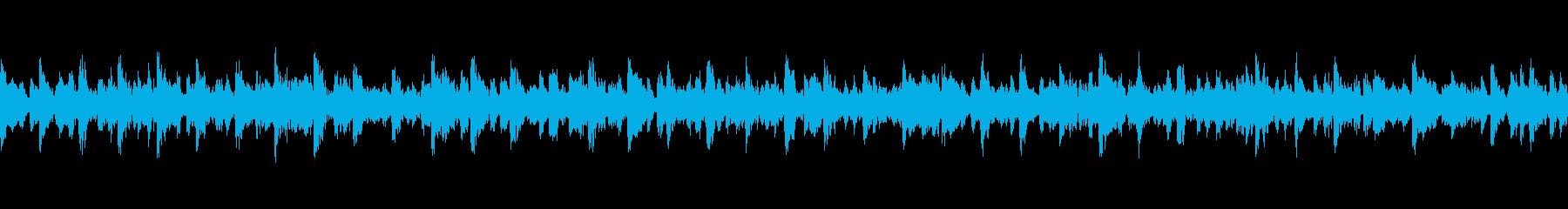 疾走感の和太鼓、篠笛のお囃子(ループ)の再生済みの波形
