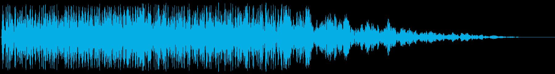 ブーン(プロペラ付き飛行物体の通過音)の再生済みの波形