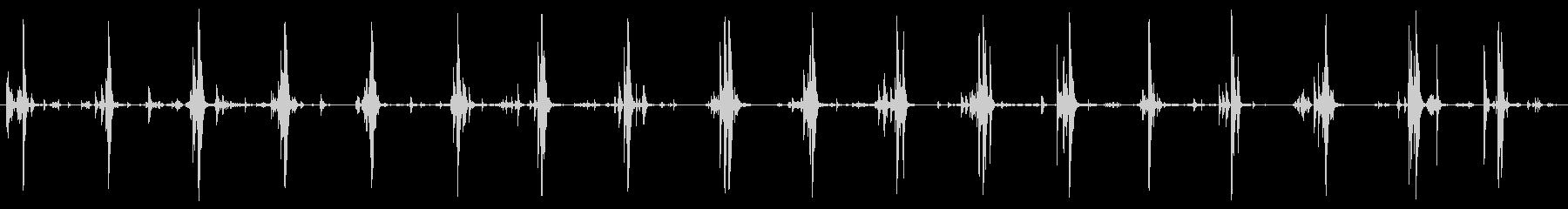 鎧 ロボット 足音の未再生の波形