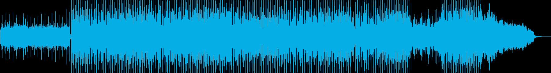 都会的な疾走感のある4つ打ち音楽の再生済みの波形