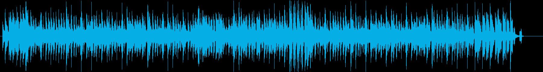 からあげをテーマにした楽曲の再生済みの波形