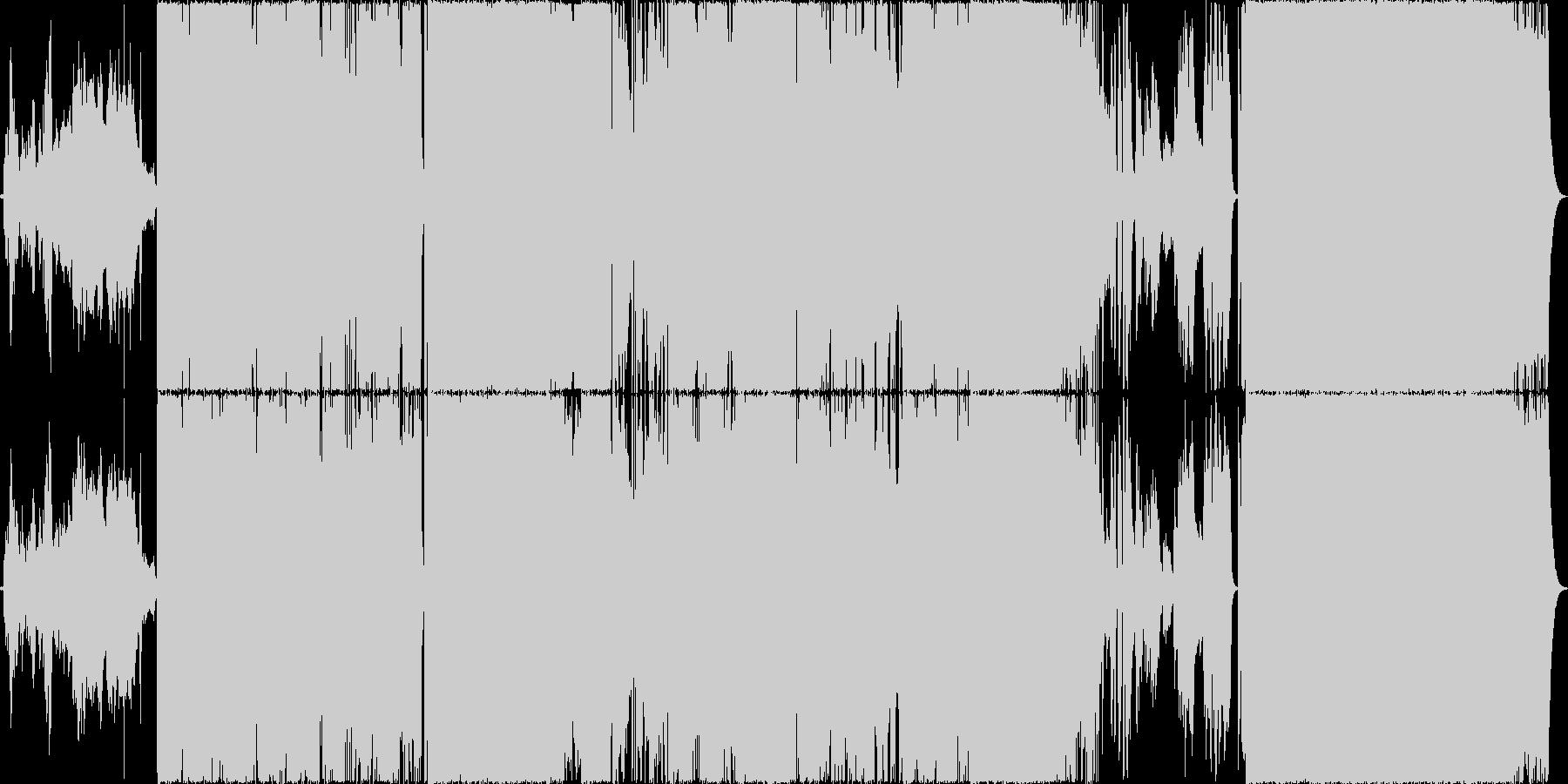 感動的な曲。ロック、ストリングス。の未再生の波形