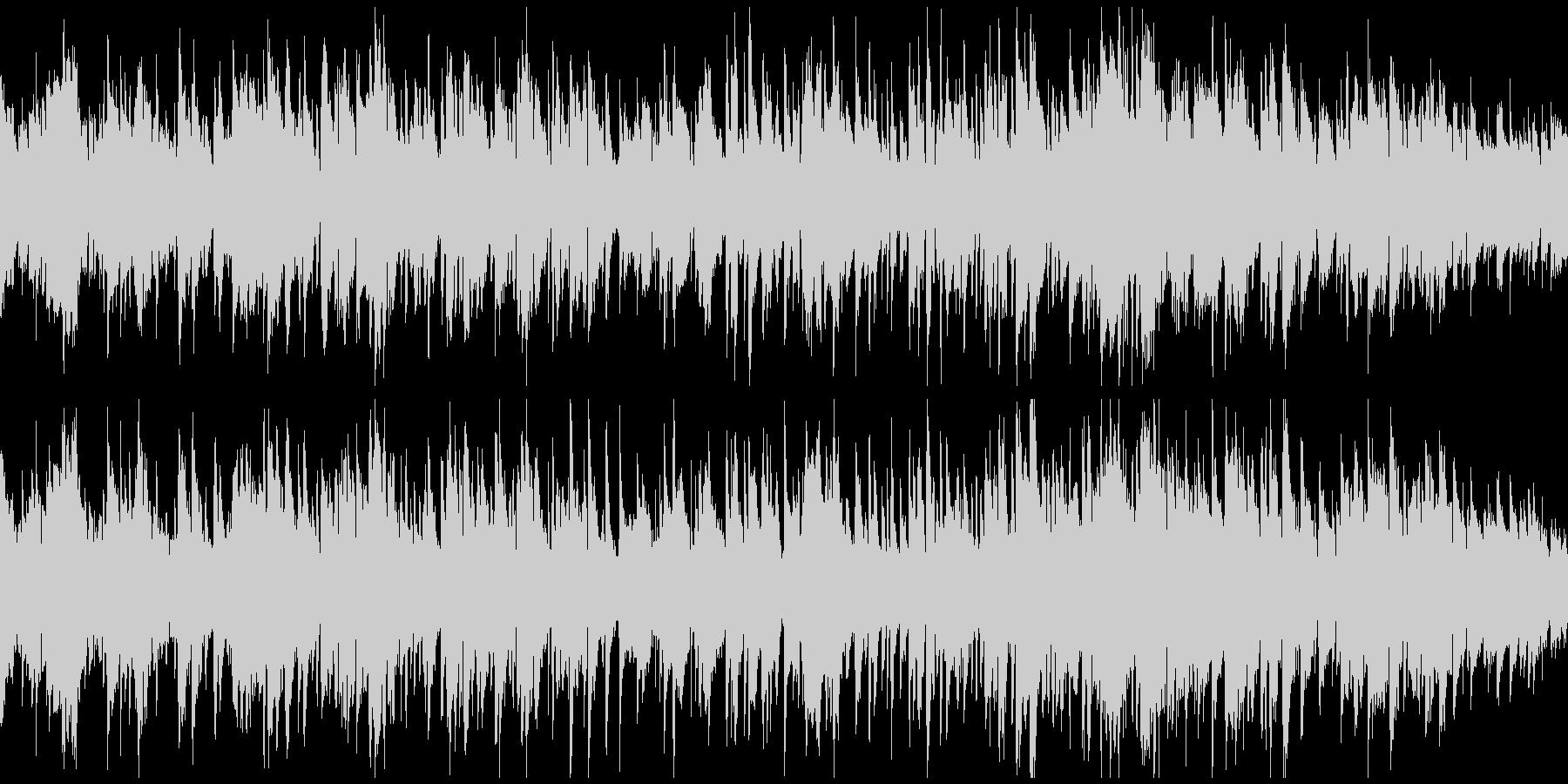 サックス生演奏のボサノバジャズ※ループ版の未再生の波形