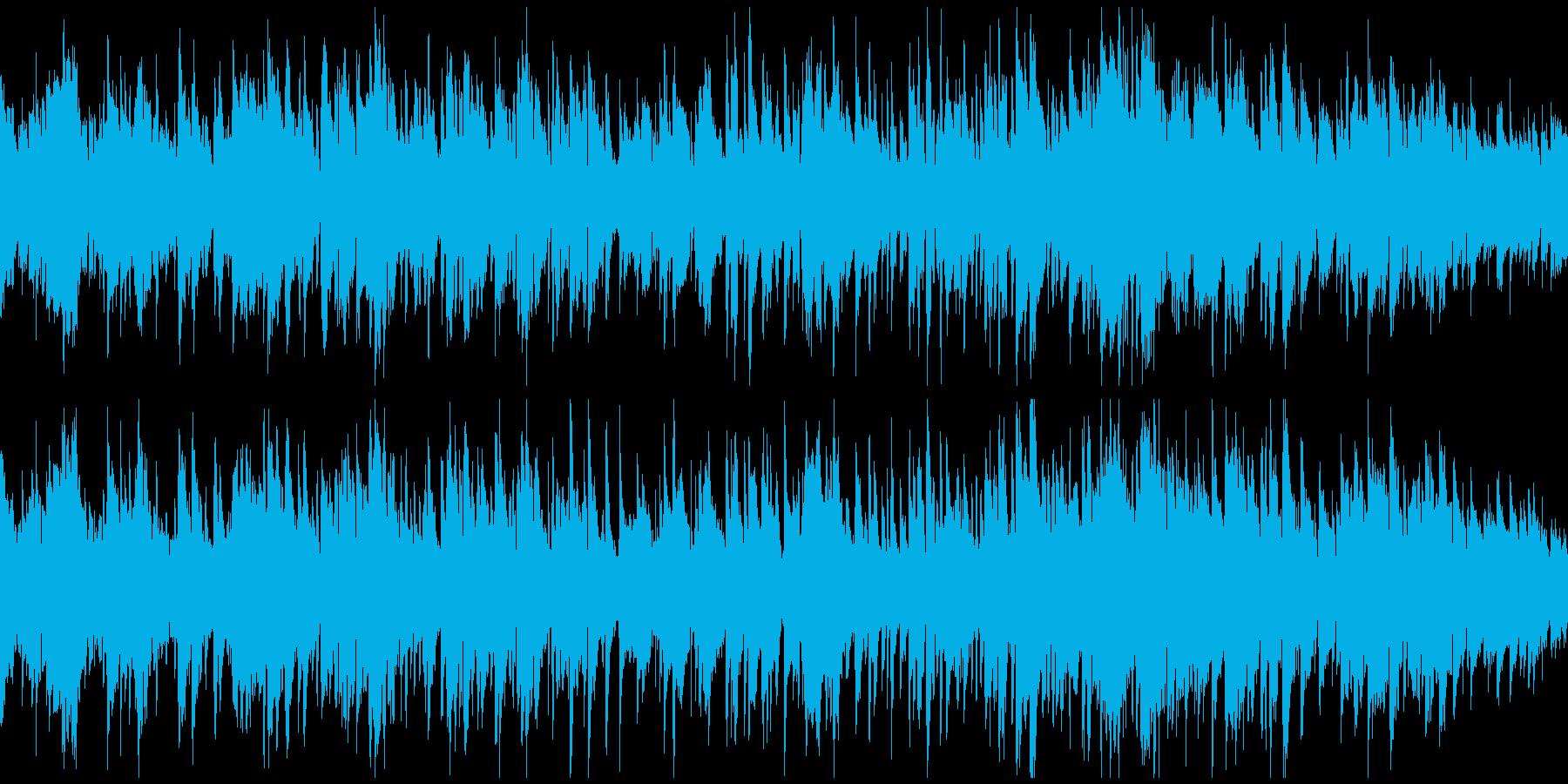 サックス生演奏のボサノバジャズ※ループ版の再生済みの波形