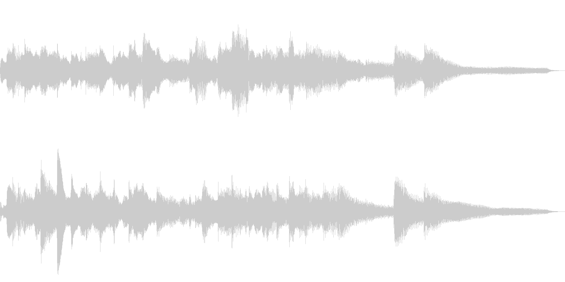 15秒の切ない和風ジングル18-ピアノの未再生の波形