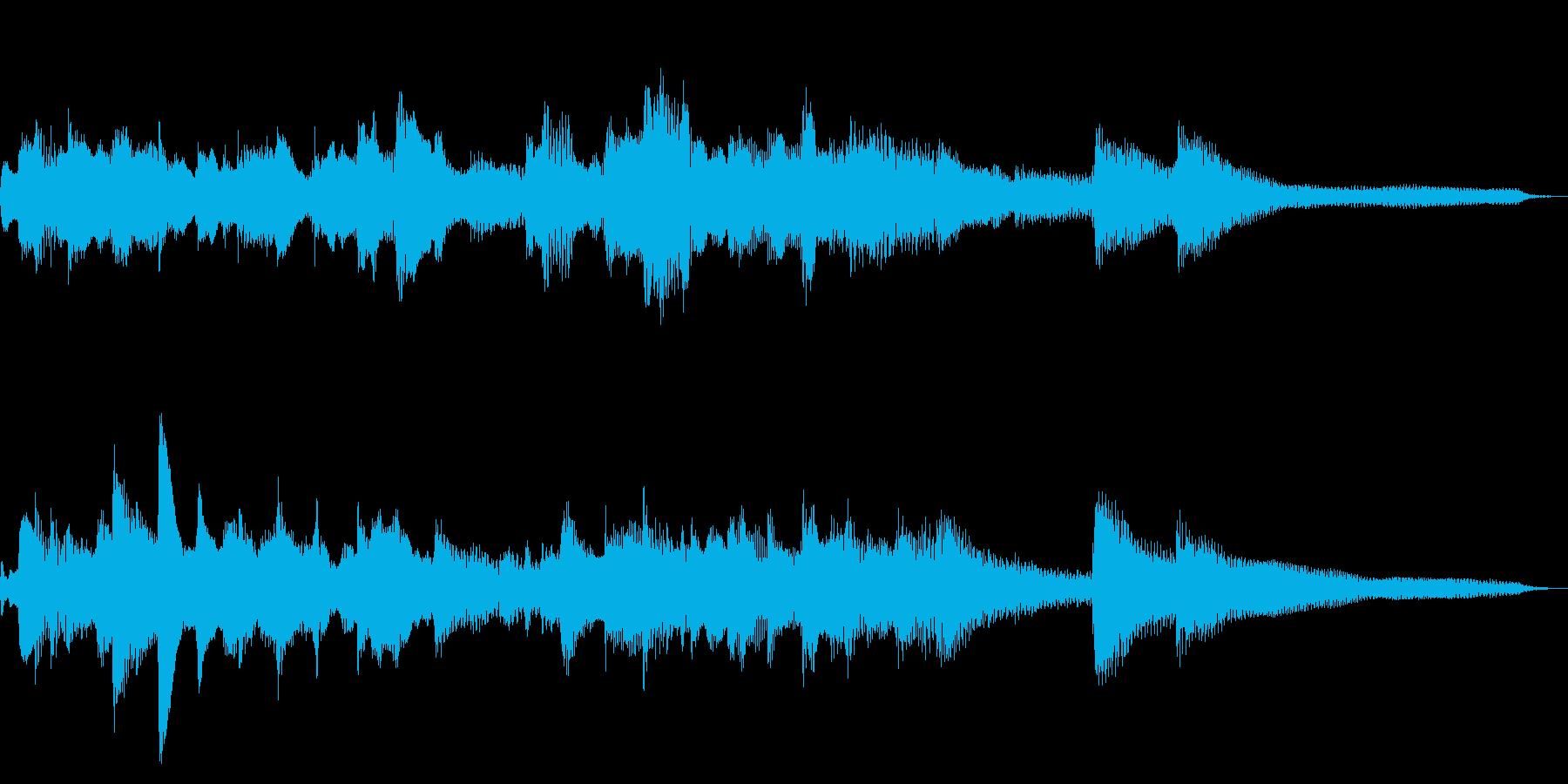 15秒の切ない和風ジングル18-ピアノの再生済みの波形