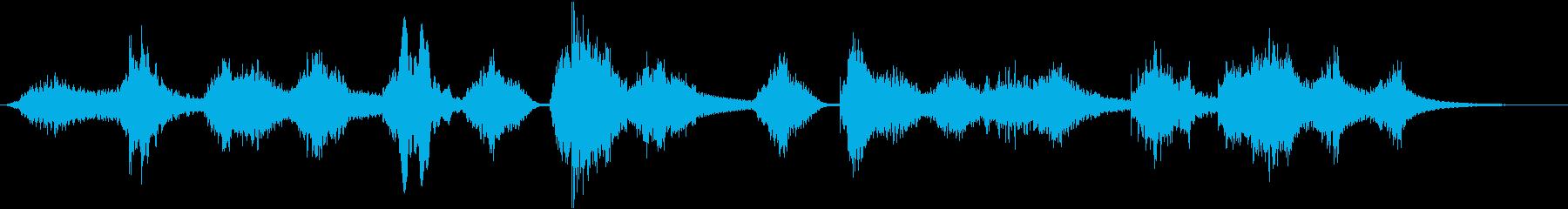 宇宙、アンビエント、静かな曲の再生済みの波形