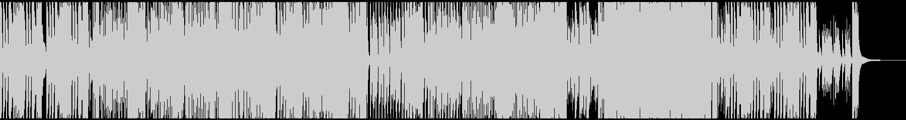 慌ただしくコミカルなイメージのBGMの未再生の波形