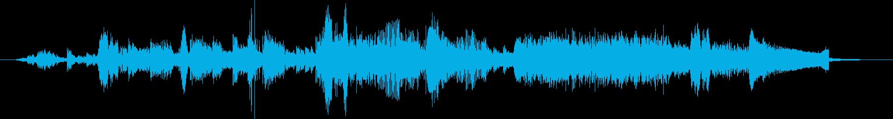 電気楽器。ロボット機械ノイズ。ハイ...の再生済みの波形