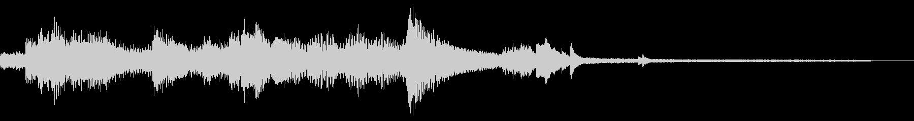 ピアノのモダンで優しいジングルの未再生の波形